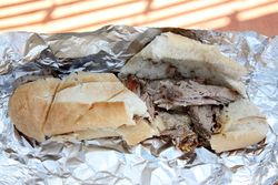 Pernil sandwich, Las Alcapurrias, Ridgewood, Queens