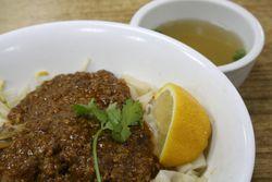 Teo Chew sate flat egg noodles, Bo Ky, Bayard Street, Manhattan
