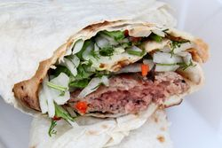Lulya wrap, Grill Spot, Sheepshead Bay, Brooklyn