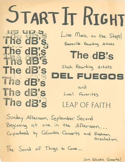 dB's, Del Fuegos, Leap of Faith, Columbia Steps