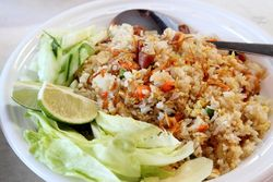 Yangchow fried rice, Crazy Crab, Flushing, Queens