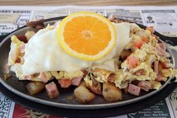 %22Jersey Shore%22 skillet breakfast, Scojo's, Surf City, New Jersey
