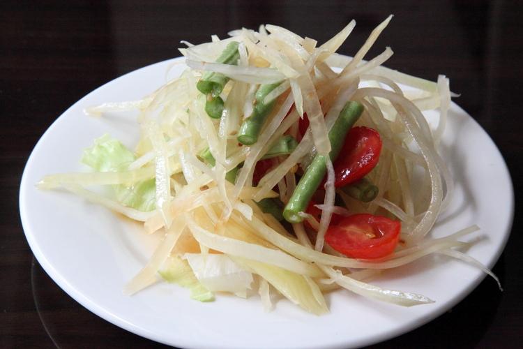 Papaya salad, Larb Ubol, Ninth Avenue, Manhattan