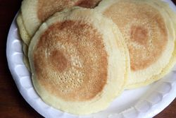 Pancakes for katayef, Bay Root Meats, Bay Ridge, Brooklyn