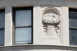 Sheaf of wheat in bas relief, Jamaica, Queens