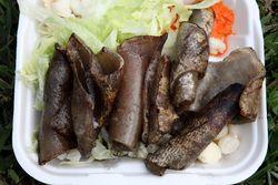 Grilled pork skin platter, Festival Ecuatoriano %22Musica y Folklore,%22 Flushing Meadows Corona Park, Queens