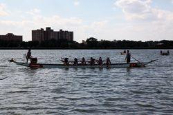 Cruising back to the boathouse, Hong Kong Dragon Boat Festival, Flushing Meadows Corona Park, Queens