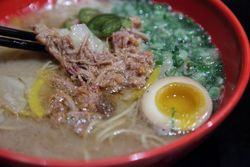 BBQ tonkotsu ramen, Ippudo NY, Fourth Avenue, Manhattan