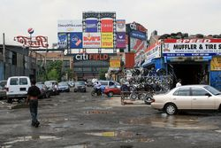 Citi Field and muffler shop, Willets Point, Queens