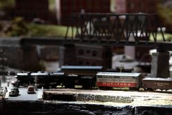 Shawangunk Valley model railroad (detail of boxcar carrying %22State of Maine Potatoes%22), Parade of Trains, Grand Central Terminal, Manhattan