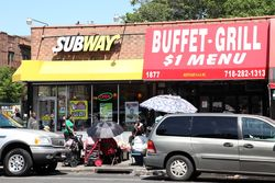 Northeast AAA Buffet-Grill and neighbor, Flatbush, Brooklyn