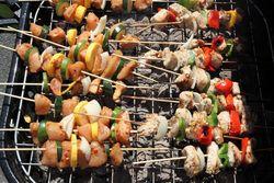 Iranian-style and Turkish-style skewers, Kabar Curry Halal Food, Allerton Avenue Festival, Bronxwood, Bronx
