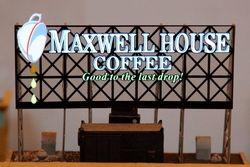 Model of an animated Maxwell House Coffee sign, Parade of Trains, Grand Central Terminal, Manhattan