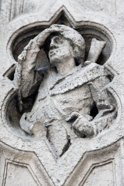 Figure of a frontiersman, Young & Rubicam Building, Madison Avenue, Manhattan