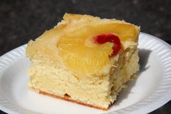 Pineapple upside-down cake, Our Lady of Refuge Barbecue and Street Fair, Ditmas Park, Brooklyn