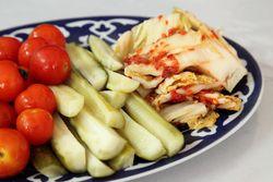 Assorted pickles, Cafe Avat, Bath Beach, Brooklyn