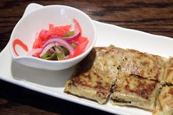 Murtabak with onion pickle, Mamak House, Flushing, Queens