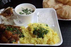 Gujarati mini thali, Desi Dhaba, Iselin, New Jersey