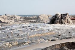 Beach replenishment, Surf City, New Jersey