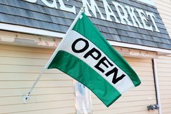 %22Open%22 flag, Anchor Produce, Surf City, New Jersey