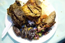 Sampler plate, annual iftar feast, Balady Foods, Bay Ridge, Brooklyn