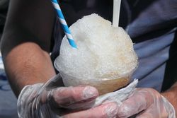 Sweet tea and lemon shaved ice, Ice Riders NYC, LIC Flea, Long Island City, Queens