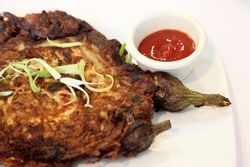Tortang talong with giniling, Tito Rad's, Woodside, Queens