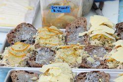 Confit chicken sandwiches, Luksus, Hester Street Fair, Hester Street, Manhattan