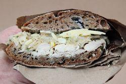 Confit chicken sandwich, Luksus, Hester Street Fair, Hester Street, Manhattan
