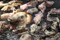 Grilled suckling pig, Biancardi Meats, Ferragosto festival, Belmont, Bronx