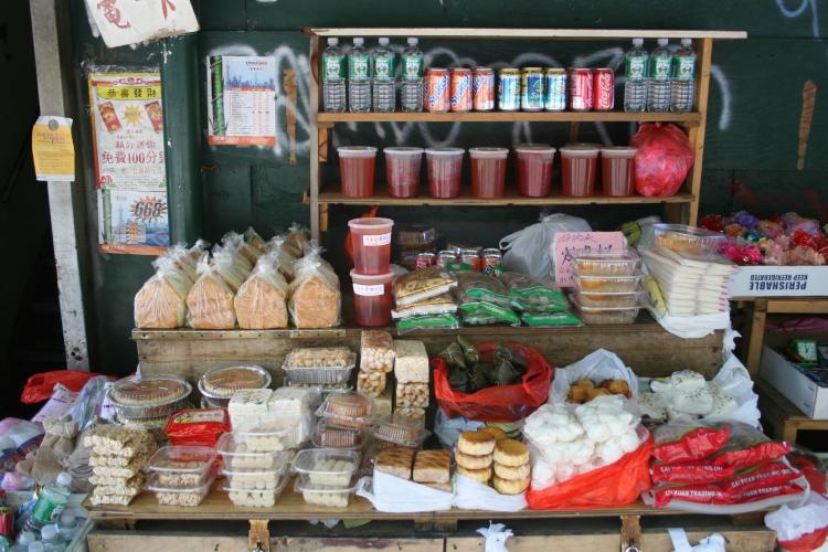 Chinese snacks table, Chrystie Street, Manhattan