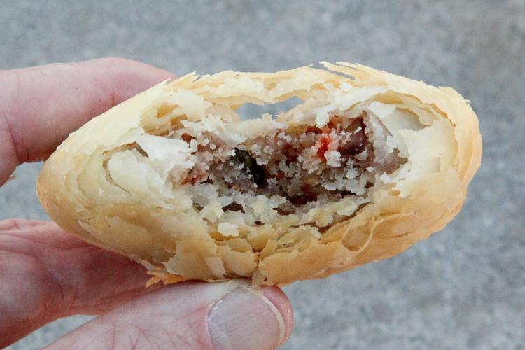 Sweet potato-crushed peanut pastry, Fujianese snacks table, Chrystie Street, Manhattan