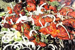 Grilled chicken, Mughlai, Columbus Avenue, Manhattan