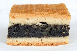 Poppy-seed square from Nita's European Bakery, Sunnyside, Queens