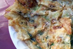 Octopus and scallion pancake, Korean Harvest Festival, Flushing Meadows Corona Park, Queens