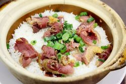 Bo zai fan with preserved duck, King's Kitchen, Sunset Park, Brooklyn