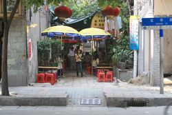 Outdoor noodle eatery, Guangzhou