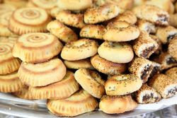 Date cookies, Luna Bakery & Sweets, Paterson, New Jersey