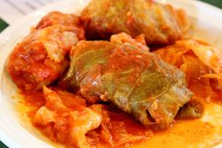 Toltott kaposzta, stuffed cabbage, food and pastry fair, Hungarian Reformed Church, Passaic, New Jersey