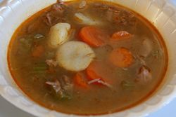Goulash soup at the Hungarian Reformed Church, Passaic, New Jersey