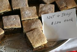 Nut-and-jelly squares at the Hungarian Reformed Church, Passaic, New Jersey