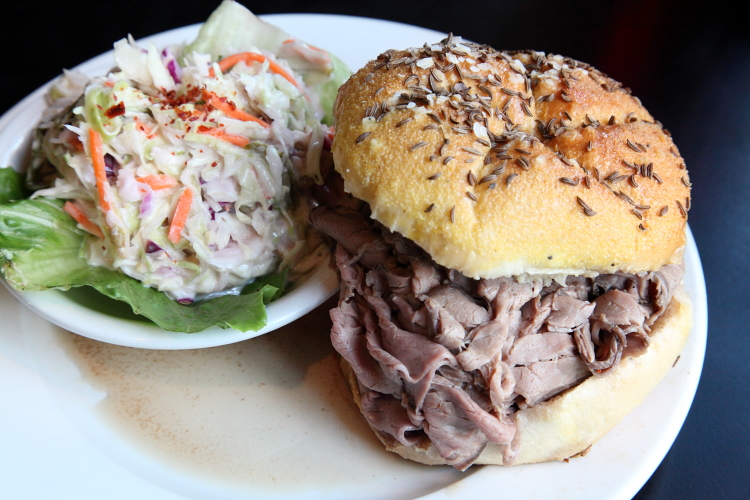 Beef on weck and spicy cole slaw, Bonnie's Grill, Park Slope, Manhattan