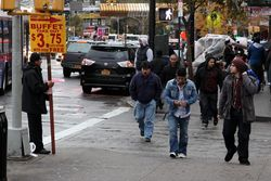 Signboard man, Fordham, Bronx