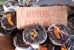 Caribbean black cake, Little Wrinkles, New Amsterdam Market, South Street, Manhattan