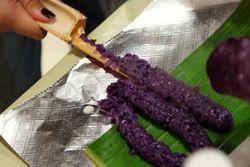 Extracting puto bumbong, Bayanihan Cultural Festival, Woodside, Queens