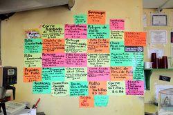 Handwritten menu, Delicias de Guatemala, Fairview, New Jersey