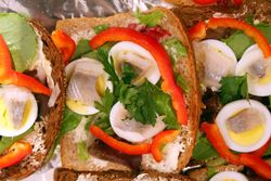 Open-faced sandwiches, Finnish Christmas Fair, Saint John's Lutheran Church, Christopher Street, Manhattan