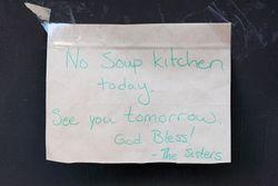 %22No soup kitchen today,%22 West Harlem, Manhattan
