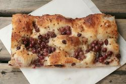 Schiacciata d'uva (champagne grape) pizza, Grandaisy Bakery, Sullivan Street, Manhattan