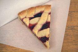 Lingonberry crostata, Grandaisy Bakery, Sullivan Street, Manhattan